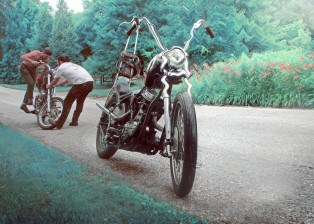 panhead, lsd, harley, davidson, triumph, motorbike, motorcycle, garcia, chopper