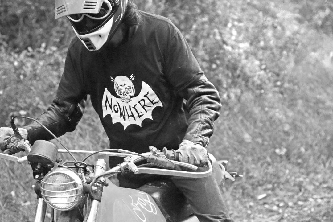 nowhere, fast, dirt, bike, shirt, skeleton, bat, shred